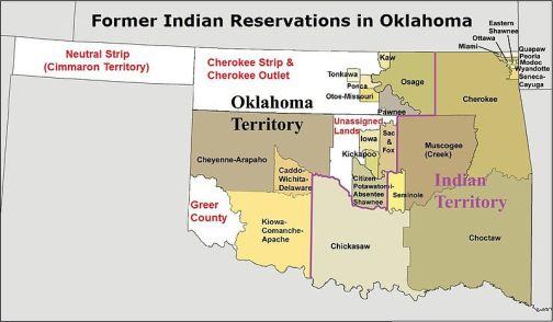 Former Indian Reservations in Oklahoma