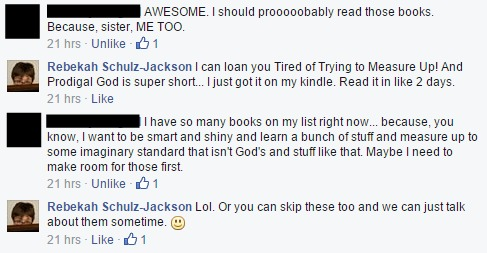 Facebook shame books comments
