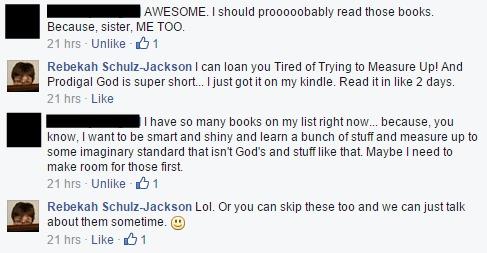 Facebook shame books comments