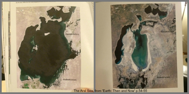 Aral Sea then and now