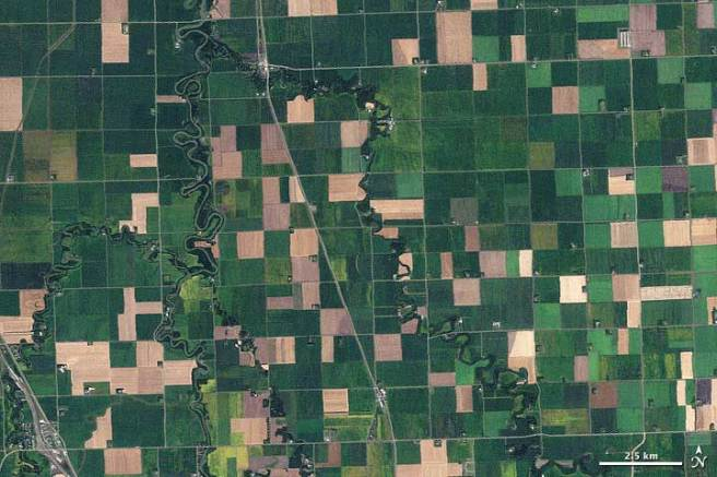 NW Minn farm land - NASA