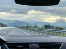 Driving through the Tatra Mountains