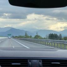 Driving through the Tatra Mountains
