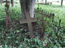 A broken cross marker