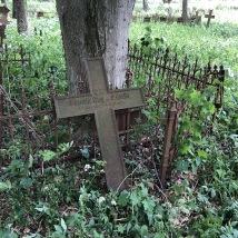 A broken cross marker
