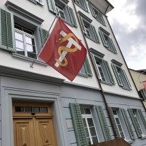 Lachen flag on main street