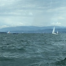 Lake Zurich with sailboats