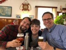 Cousin lunch. Prost!