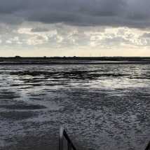 Wattenmeer (mud flats) at sunset